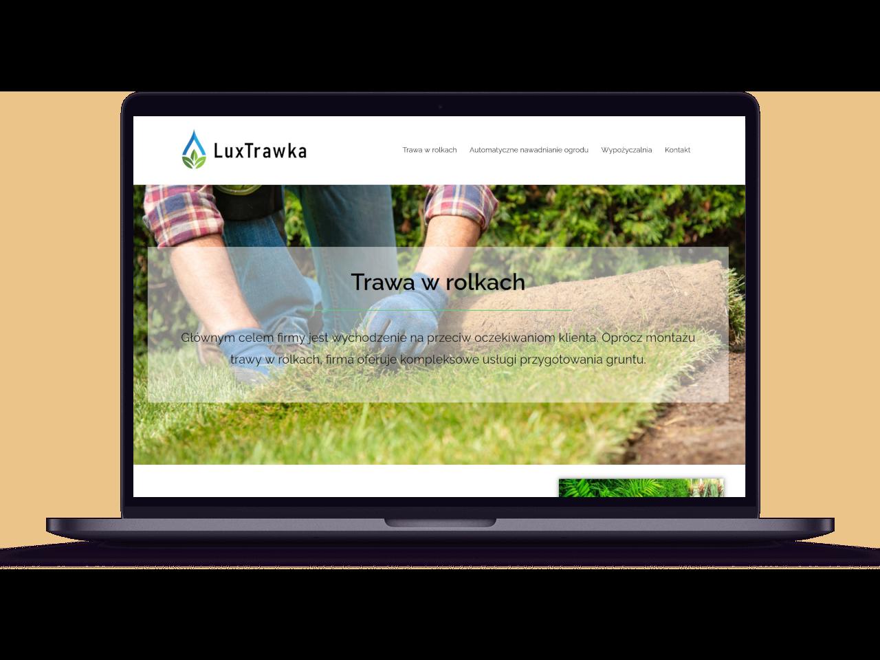 Strona internetowa LuxTrawka