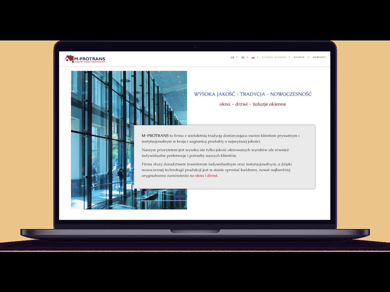 Strona internetowa M-PROTRANS